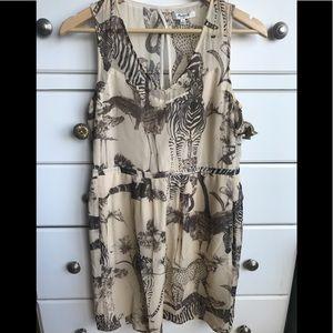 Madewell, animal print, size 4 (fits like 6) dress
